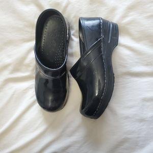 Dansko Black Stapled Professional Medical Clogs 35